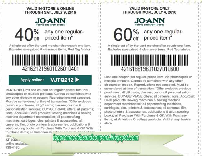 Free Promo Codes And Coupons 2020 Joann Coupons