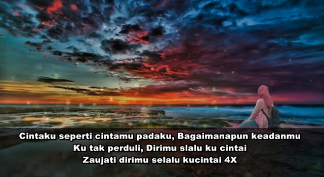 zaujati lirik teks versi indonesia