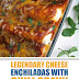 Legendary Cheese Enchiladas with Chili Gravy #enchiladas #cheeseenchiladas