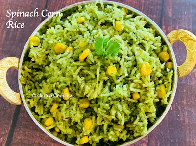 spinach corn rice
