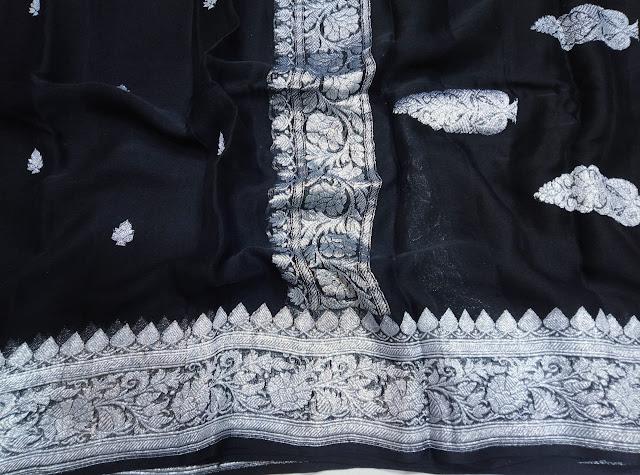 Chiffon khaddi black colour