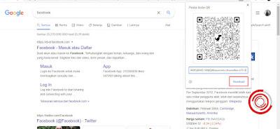Nantinya Google Chrome akan membuatkan kode QR untuk halaman terkait