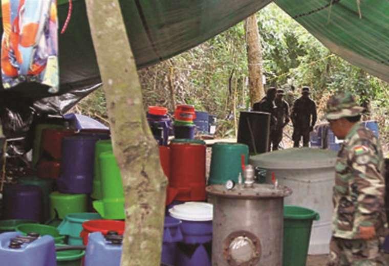 Un laboratorio tipo para la producción de cocaína en Bolivia / ARCHIVOS WEB