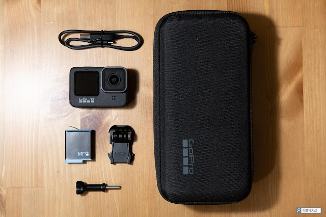 【開箱】再次進化的史上最強運動攝影機,GoPro HERO9 Black - GoPro HERO9 Black 的產品內容物