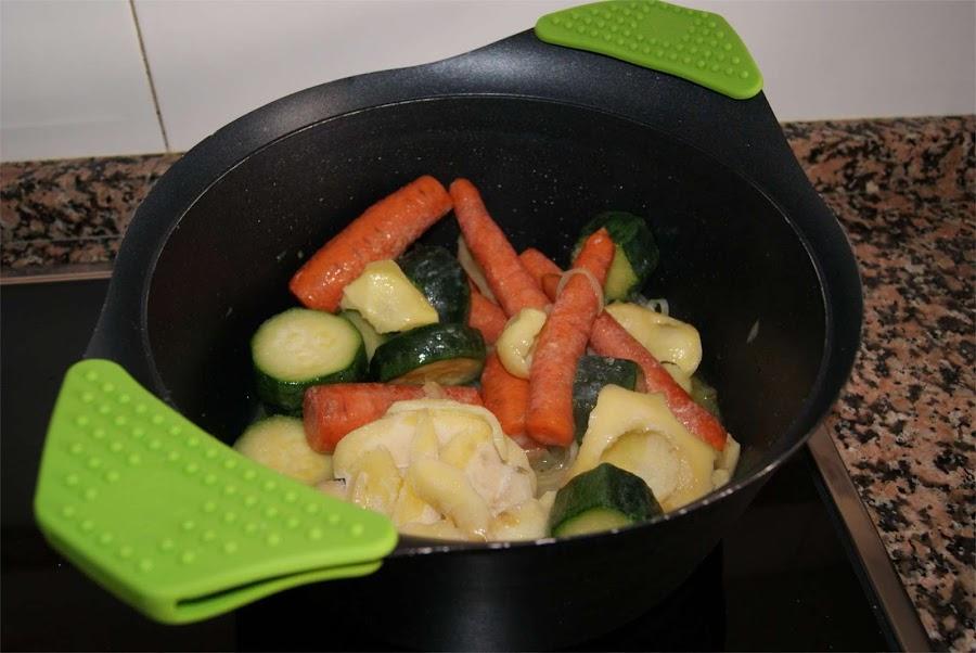crema de verduras con almejas paso 2