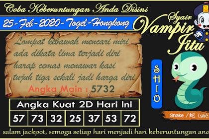 Syair Vampir Jitu Togel Hongkong Selasa 25 Februari 2020
