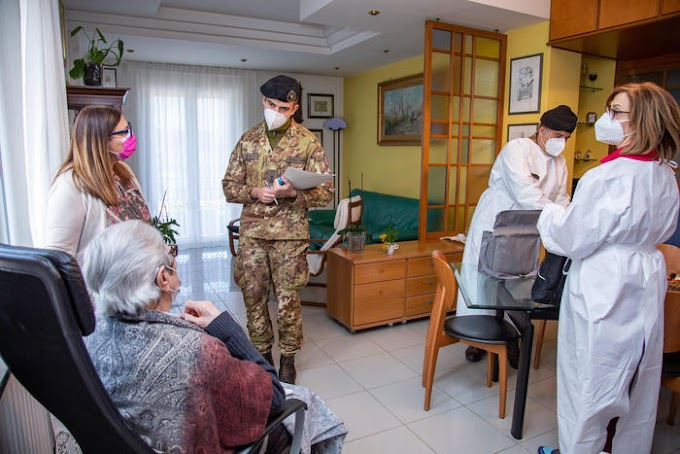 Vaccini over 80: in campo team dell'Esercito