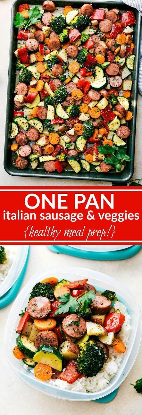 One Pan Italian Sausage and Veggies