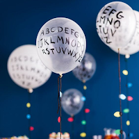 stranger things hallowwen party balloon alphabet