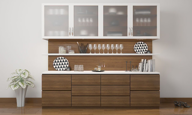 kitchen crockery unit designs
