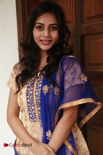 Actress Suza Kumar Pictures in Salwar Kameez at Maaniik Movie Launch 0061