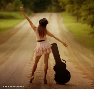 Girl Image with Guitar
