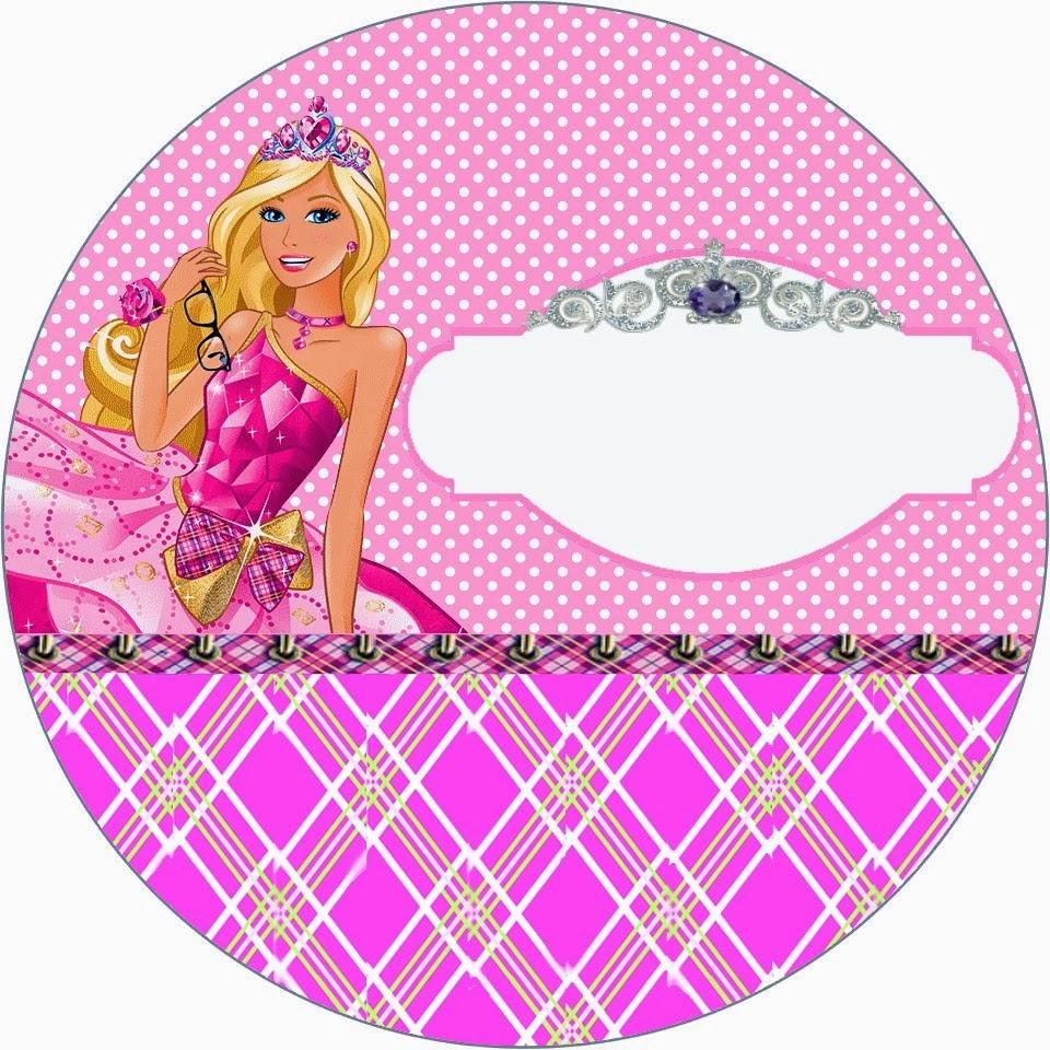 Barbie Escuela de Princesas: Invitaciones y Etiquetas para Candy Bar ...