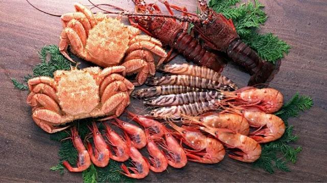 الكوليسترول فى المأكولات البحرية: جدول المحتويات والخصائص المفيدة