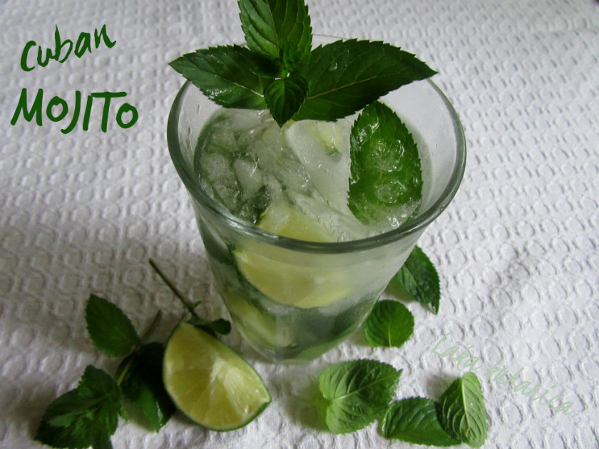 Cuban mojito by Laka kuharica: the classic Cuban Mojito has a minty, slightly tart tang with a little punch from the rum.