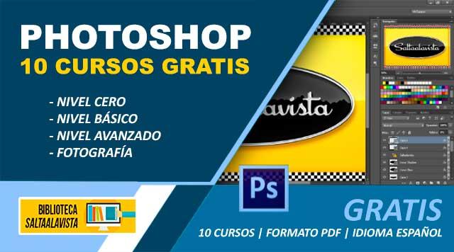 10 Cursos de Adobe Photoshop Gratis en español y PDF para Descargar