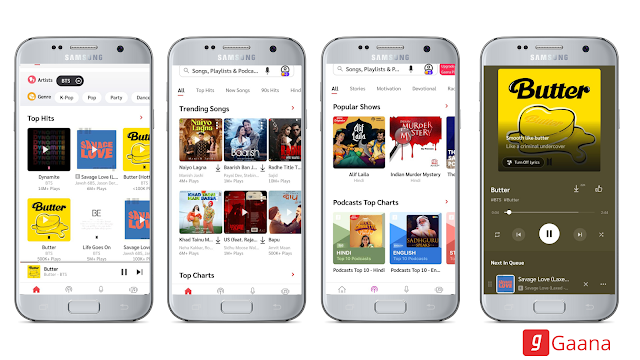Ganna Best free music streaming app for Android