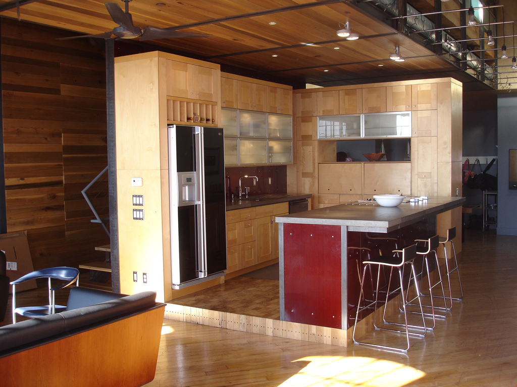 Interior Design Kitchen Cabinet Countertop Open