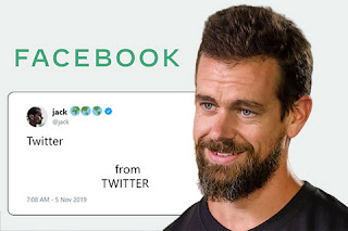 Twitter CEO Jack Dorsey has mocked the new logo of Facebook