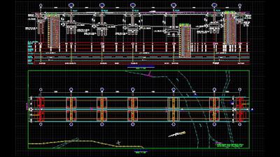 gambar jembatan format dwg