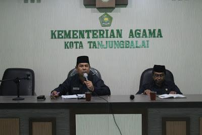 Kankemenag Tanjungbalai Gelar Rakor Bulanan