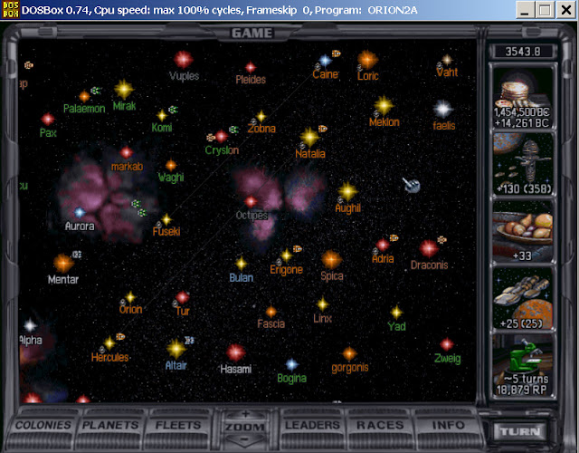 Master of Orion 2 - Galaxy Screenshot