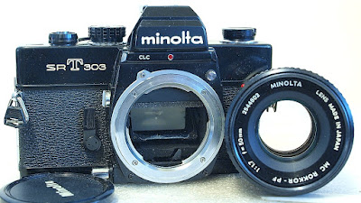 Minolta SRT-303 (Black) Body #417, Minolta MC Rokkor-PF 50mm 1:1.7 #617