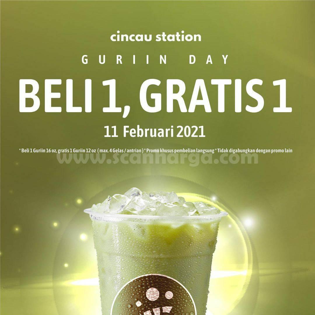 CINCAU STATION GURIIN DAY! Promo BELI 1 GRATIS 1