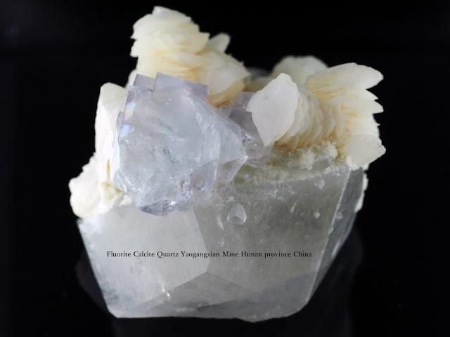 フローライト クォーツ カルサイト Fluorite Calcite Quartz Yaogangxian Mine Hunan province China