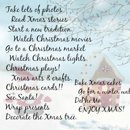 A family Christmas Bucket list