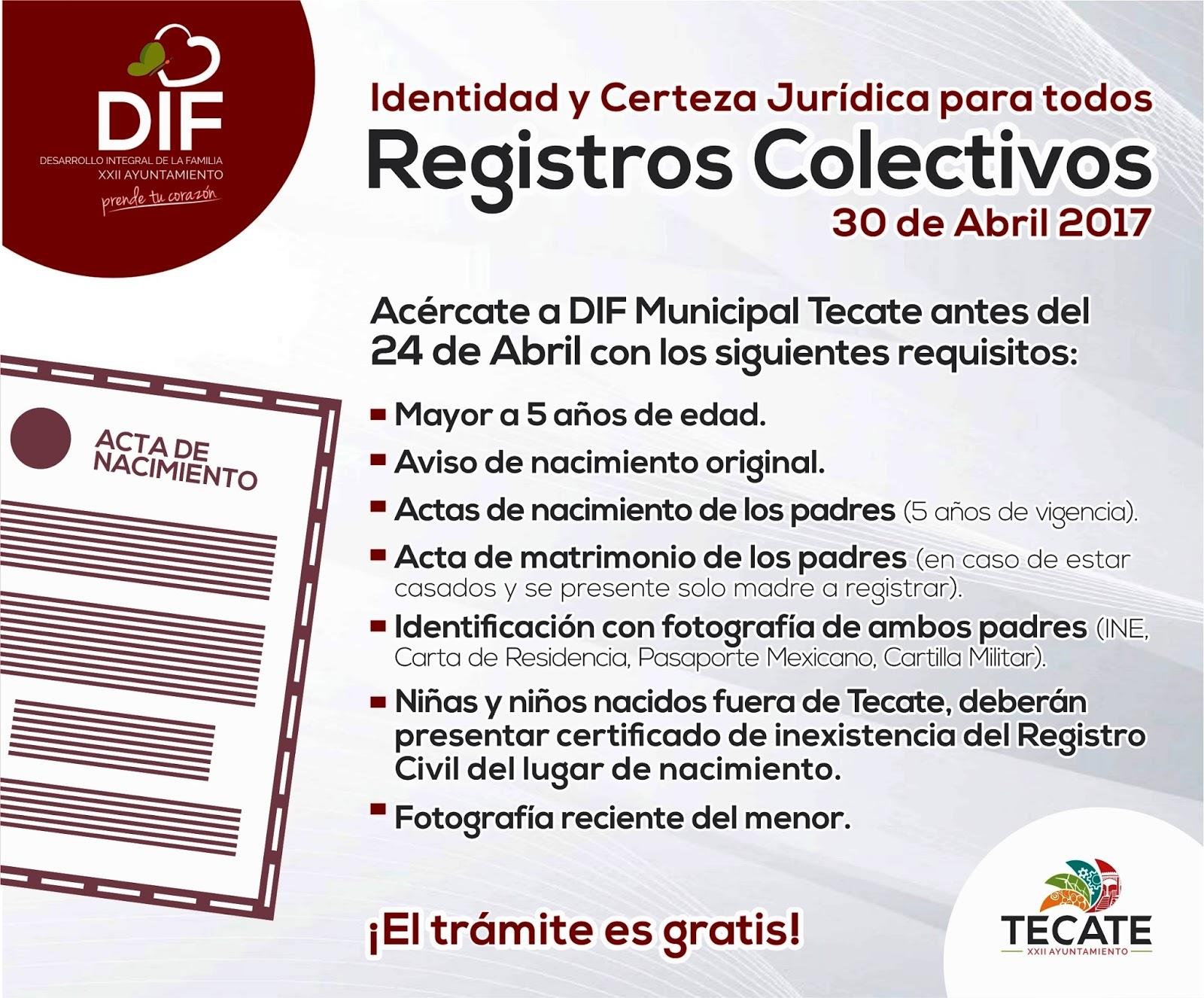 Quihubole: INICIA DIF TECATE RECEPCIÓN DE DOCUMENTOS PARA REGISTROS ...