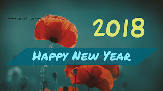 Yellow text New year 2018 Greeting image
