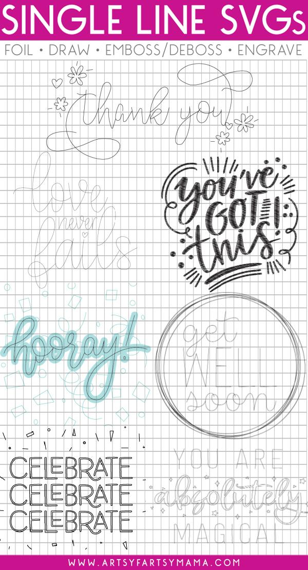 Free Single Line SVG Cut Files