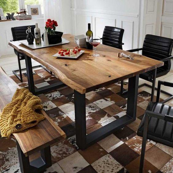 22 diseños modernos de mesas de comedor de madera