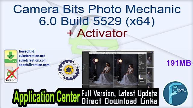 Camera Bits Photo Mechanic 6.0 Build 5529 (x64) + Activator