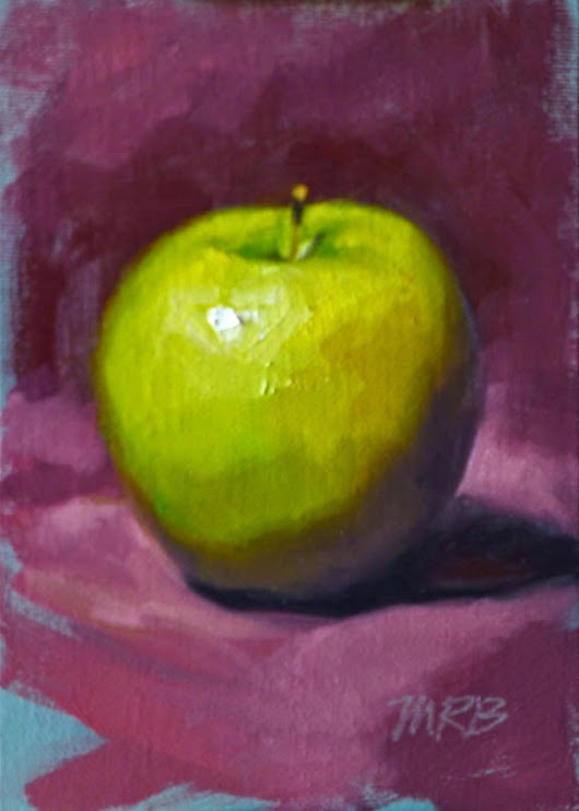 Art by Mary Rochelle Burnham: Granny Smith Apple