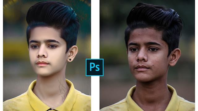 Easy Skin Smooth Photoshop Tutorial  Dark To White Skin High-End Skin Retouching In Photoshop cc