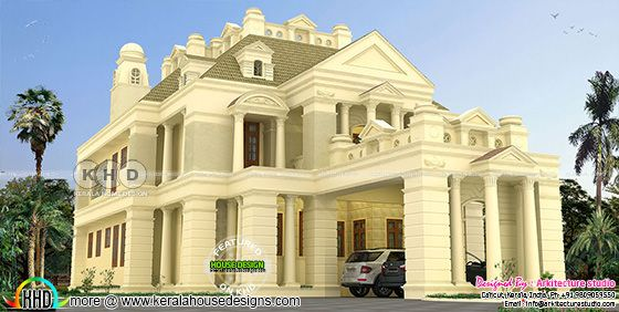 Colonial model luxury Kerala house