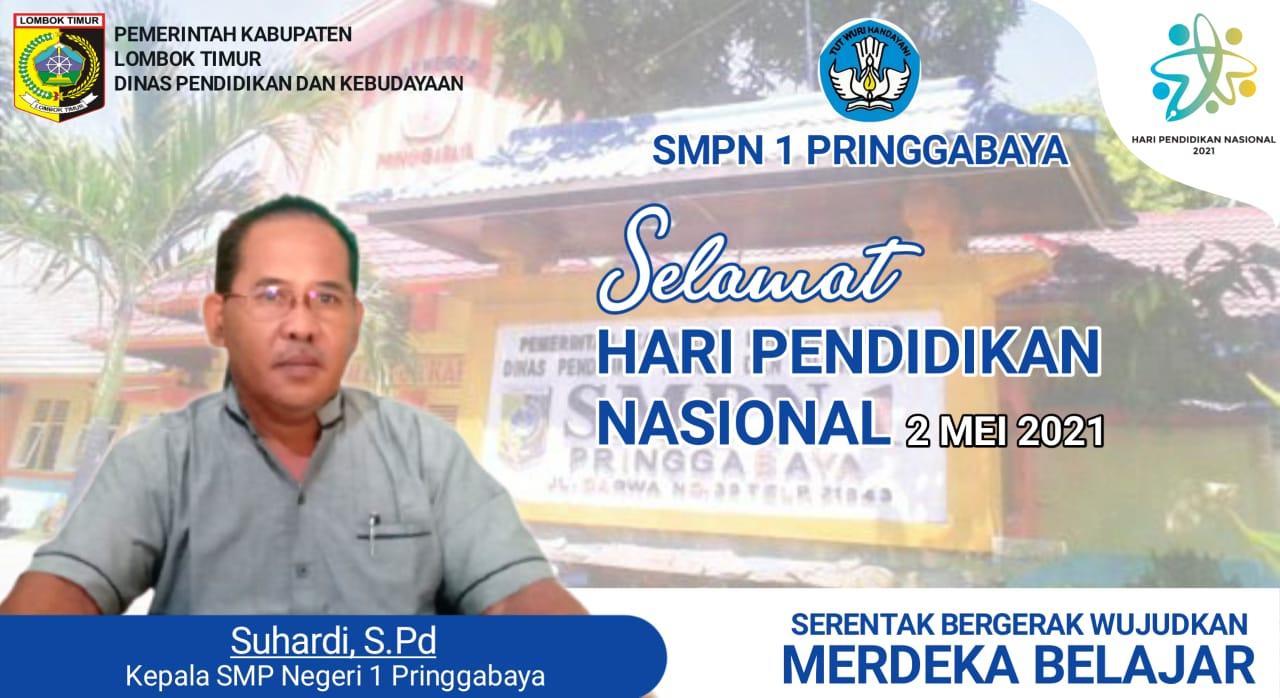 Ucapan Hari Pendidikan Nasional 2 Mei 2021 SMPN 1 PRINGGABAYA