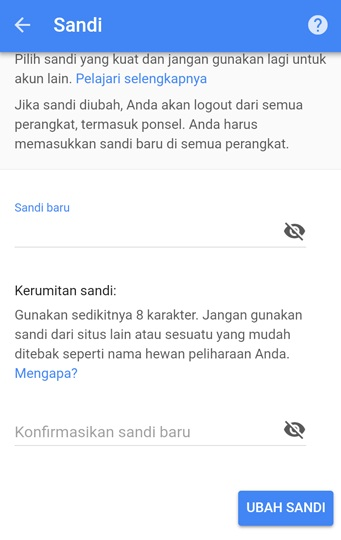 Cara Mengganti Password Gmail via PC dan Android