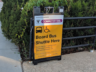MBTA Franklin Line notices: Weekend Shuttle Service though March 2020