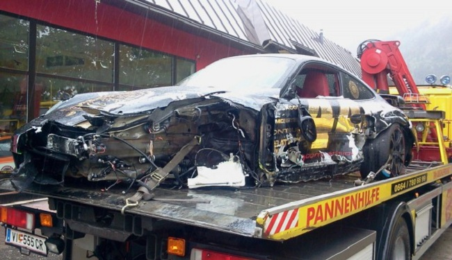 Porsche Turbo Crash During Gumball