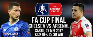 Jadwal Siaran Langsung Final Piala FA Chelsea vs Arsenal