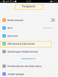 Pengaturan Data Seluler Aplikasi Android Oppo Smartphone