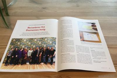 Artikkelen min i den nyeste utgaven av bladet Blødernytt, fotografert hjemme på kjøkkenbordet...