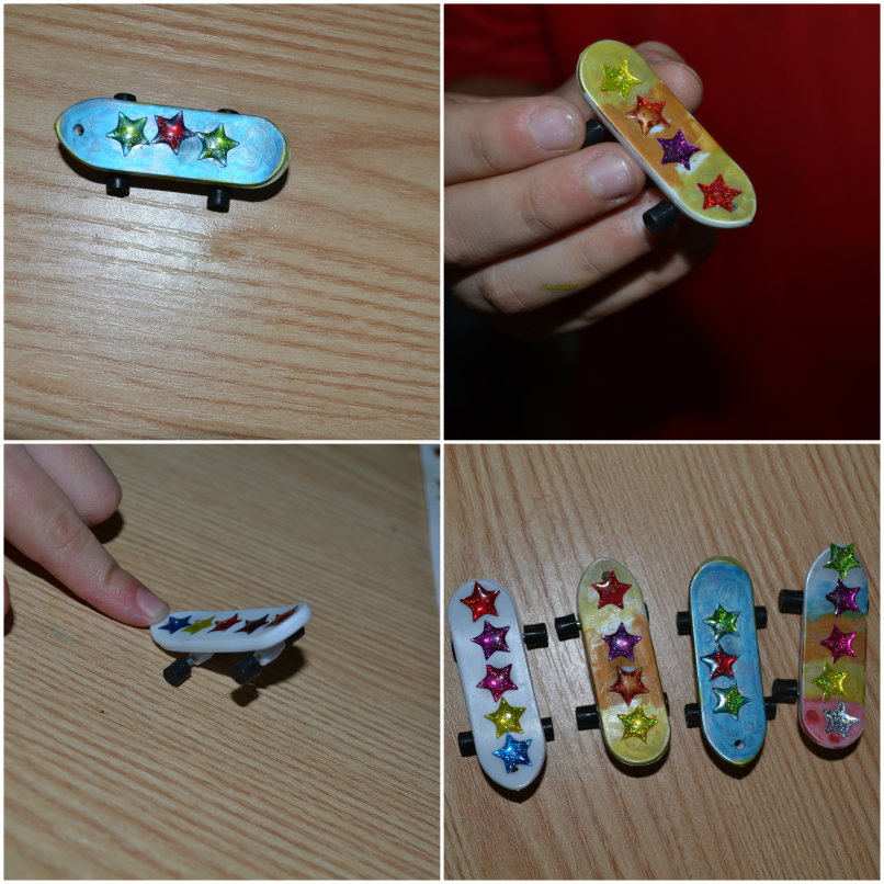 Finger Skateboards from yellow moon @ Ups and downs, smiles and frowns