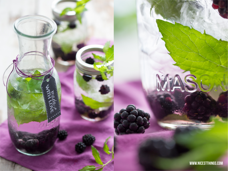 Infused Water mit Brombeeren