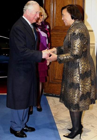 The Duke and Duchess of Cornwall attended the annual Commonwealth Day reception at Marlborough House
