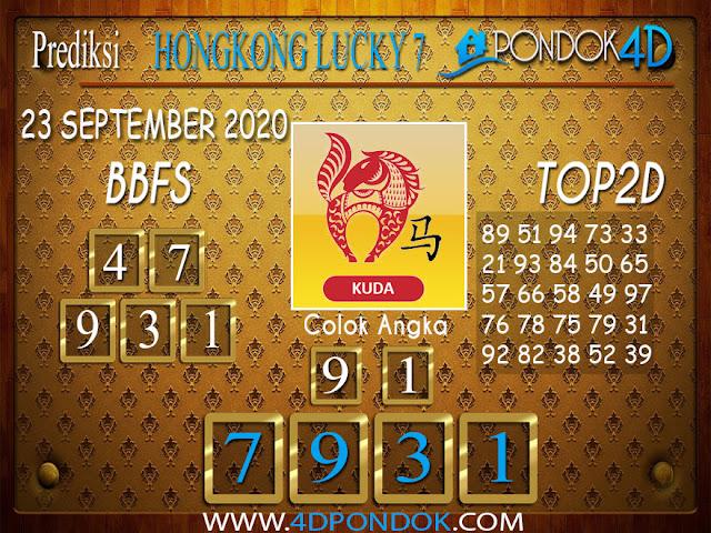 Prediksi Togel HONGKONG LUCKY 7 PONDOK4D 23 SEPTEMBER 2020
