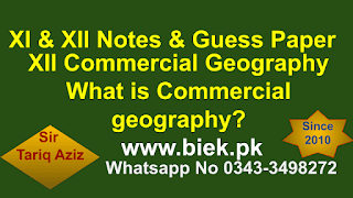 What is Commercial geography